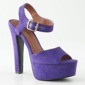 Candie's Sexy Purple Platform Heels
